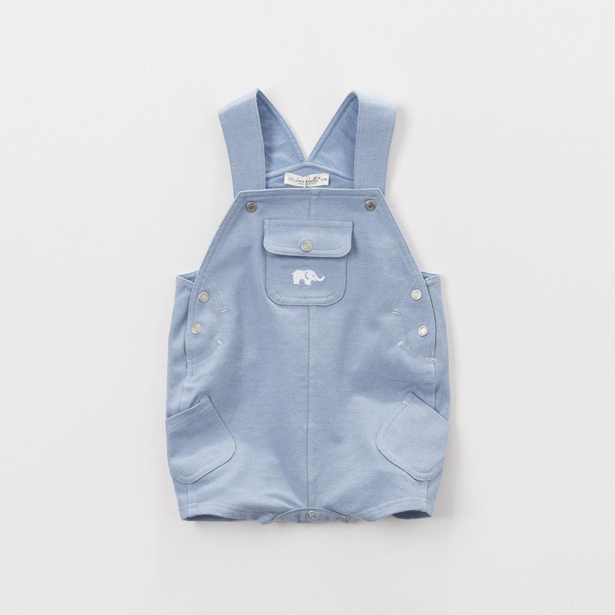 davebella戴維貝拉 男童夏裝 背帶短褲 男寶寶褲子 嬰兒背帶褲