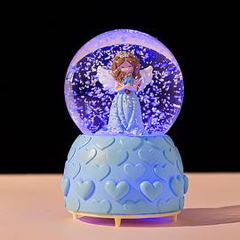 创意雪花水晶球冰雪奇缘艾莎公主音乐盒八音盒61儿童节女孩礼品物图片