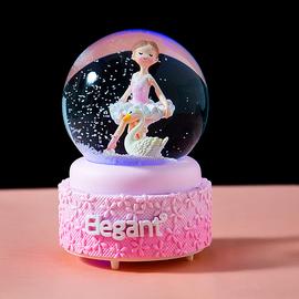 水晶球音乐盒生日礼物女跳舞芭蕾小女孩八音盒抖音六一儿童节礼物图片