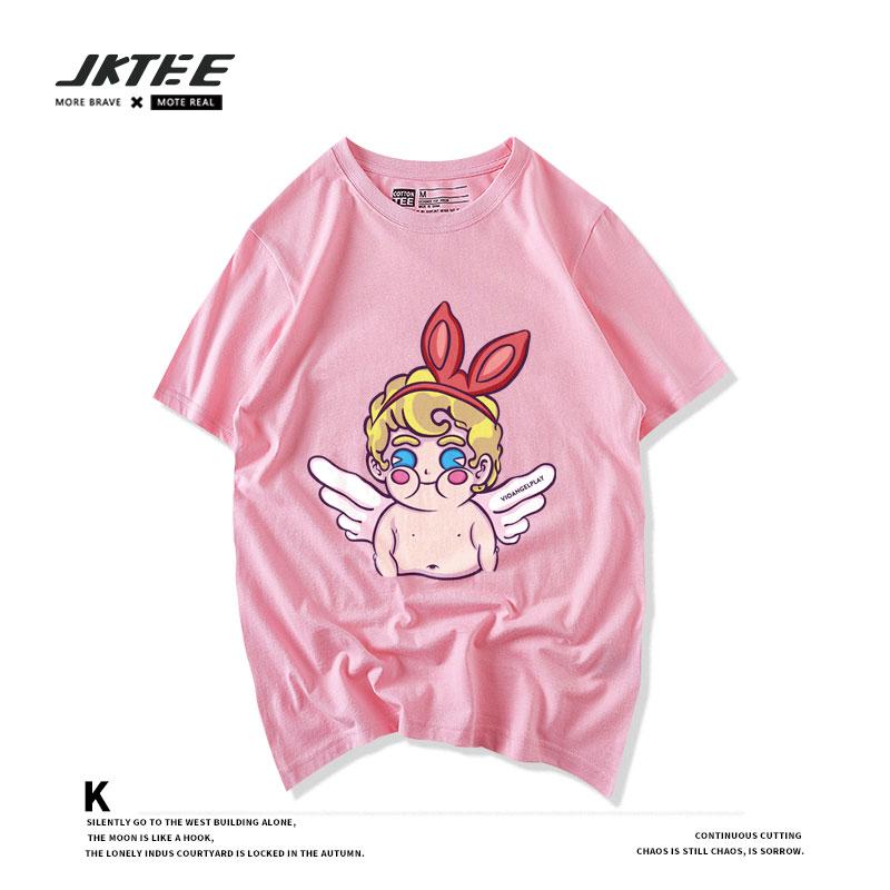粉色半袖t恤女哪款好