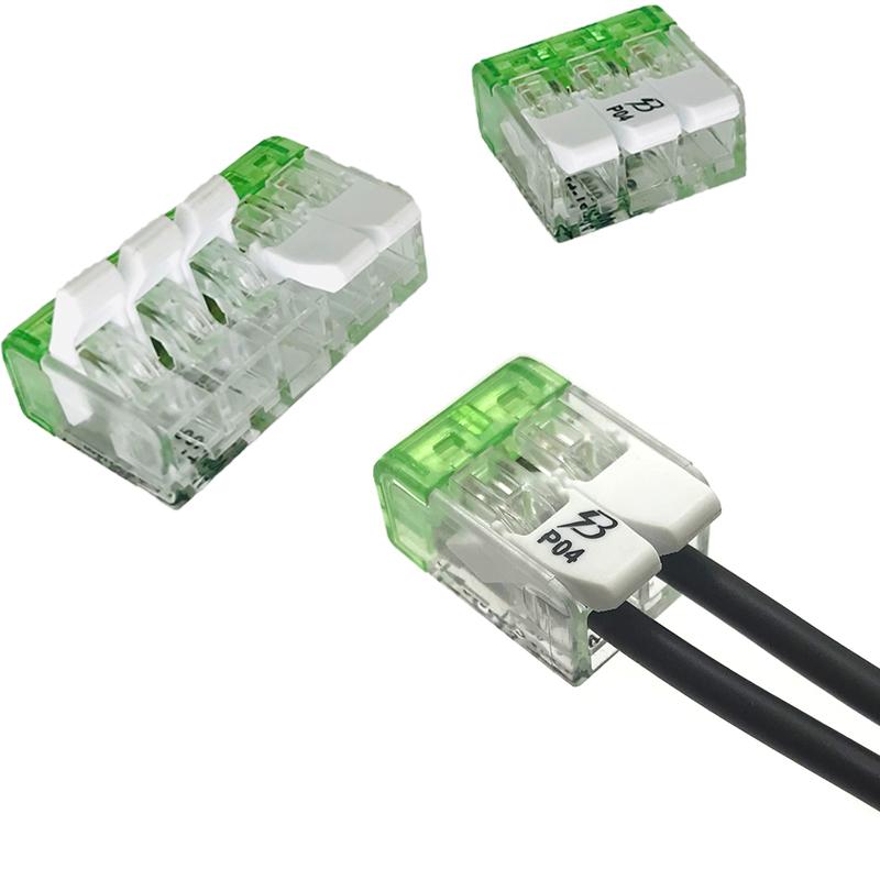 现货221-412/413/415照明电线连接器 一进二出四出灯具接线端子
