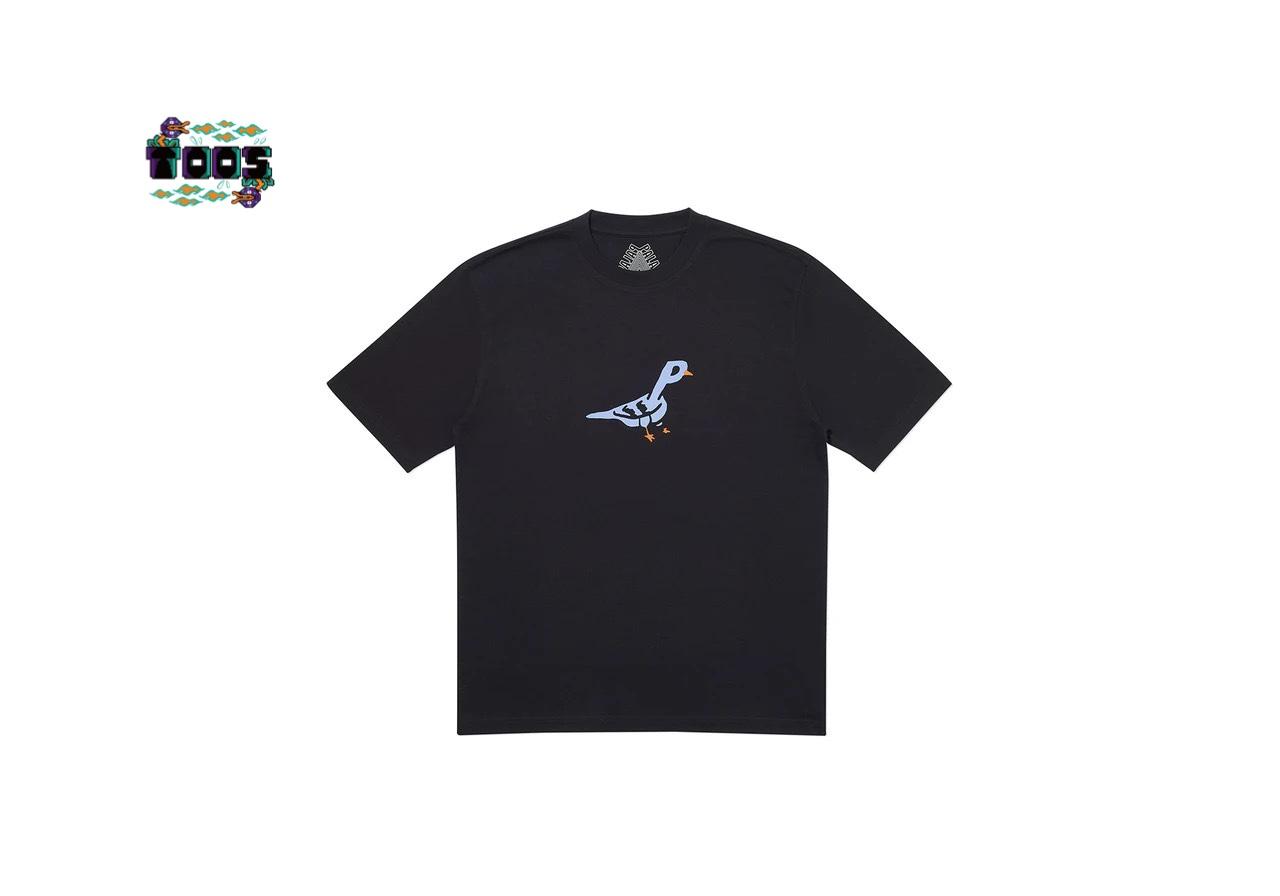 途中 20SS PALACE PIGEON HOLE T-SHIRT 漫畫小鳥鴿子短袖新款TEE