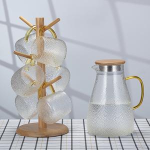 加厚耐高温玻璃锤纹凉水壶耐热防爆冷水壶果汁壶多用水壶套装家用