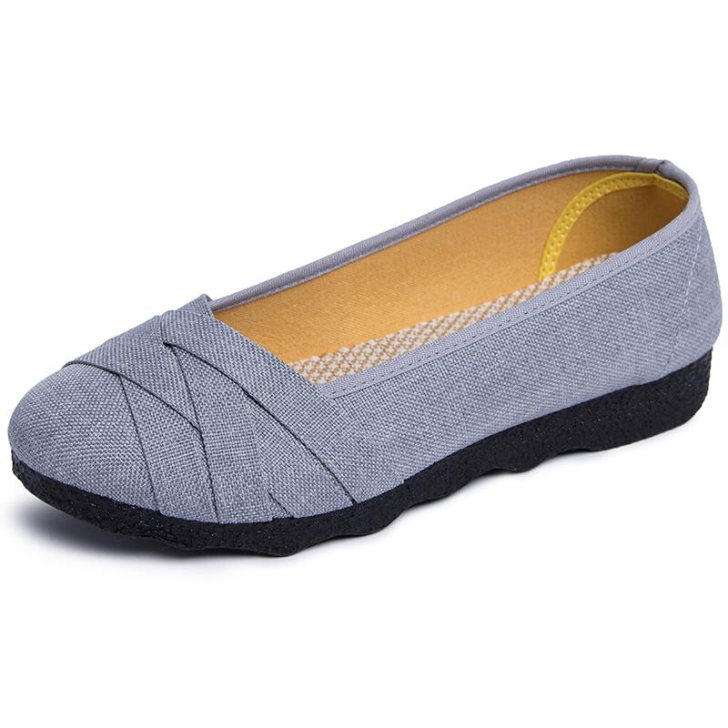 和韵祥中年妈妈夏季老北京布鞋女42鞋 夏天大码女鞋41-43黑色鞋子