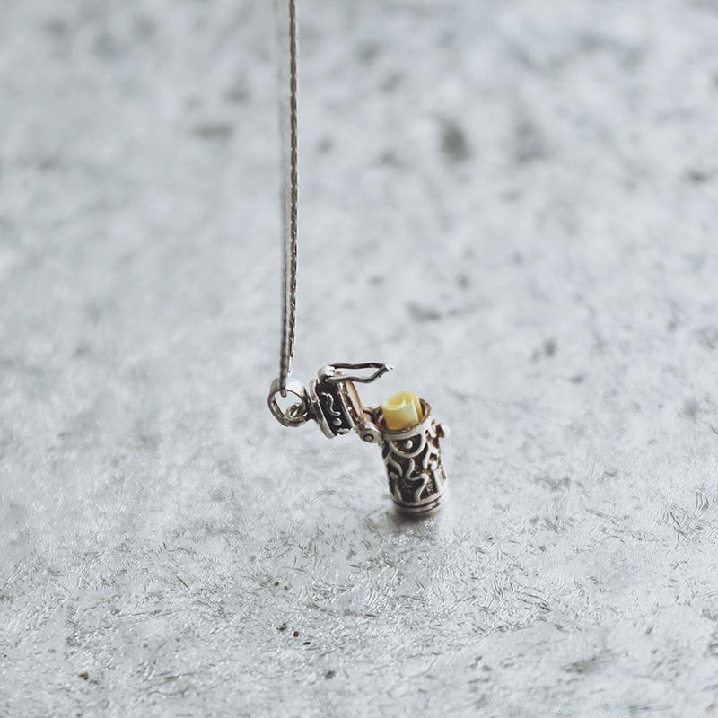 【秘密盒子】可以打开的盒子吊坠复古925银中性情侣吊坠创意礼物