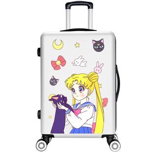 行李箱ins網紅女抖音旅行箱學生定製圖案拉桿箱韓版可愛密碼皮箱