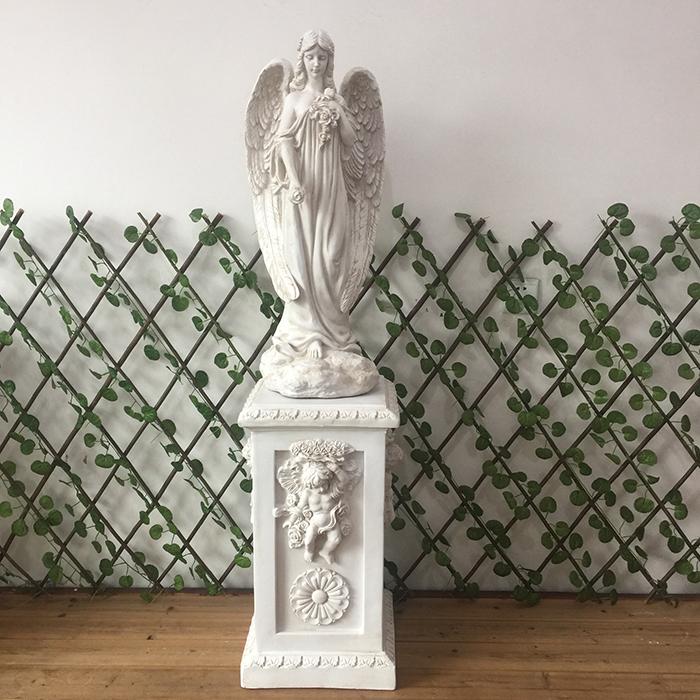 欧式树脂人物艺术天使雕塑女神雕像家居装饰品落地大摆件婚庆道具 Изображение 1