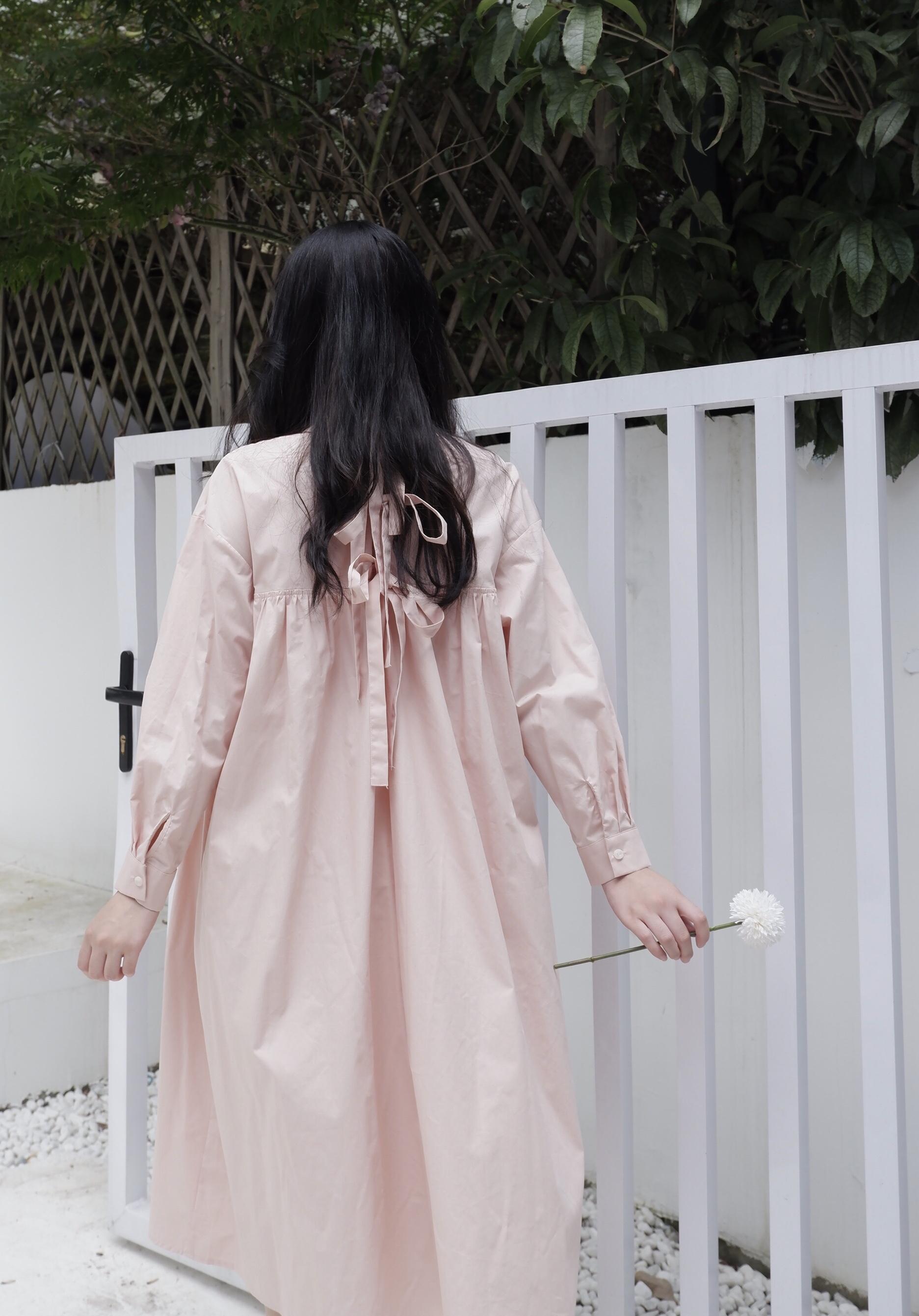 11-30新券是枝2019秋日系蝴蝶结背后娃娃裙