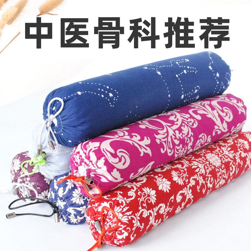 荞麦皮小枕头助睡眠决明子护颈椎枕单人圆柱劲椎矫正修复专用硬枕