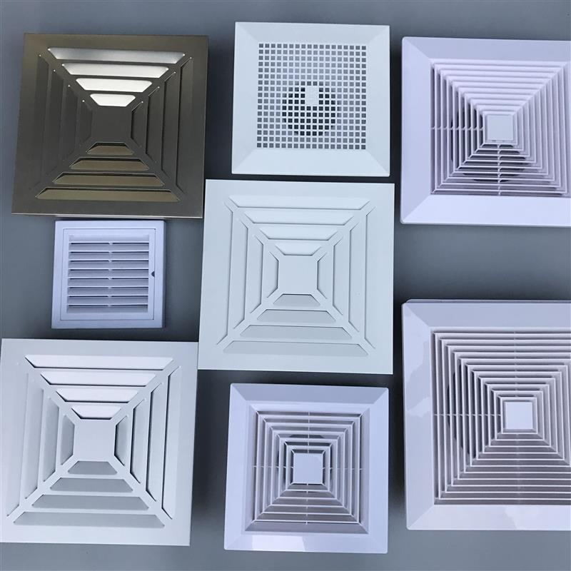 . Ventilation fan duct interior decoration ceiling air outlet integrated ceiling exhaust panel exhaust fan mask air outlet