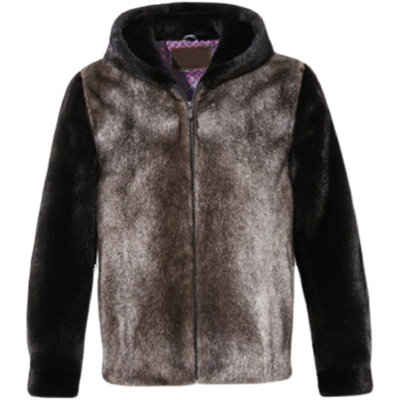 New mink mens wear 2020 baojiamei star mink Hooded Jacket velvet fur coat imported from USA
