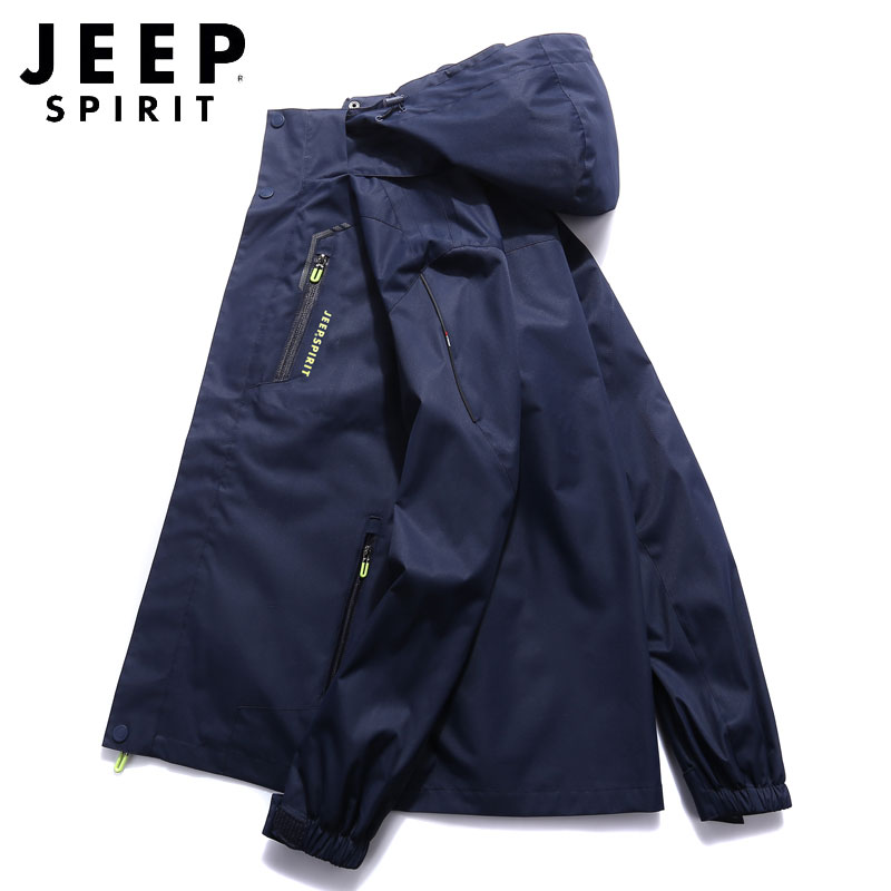 Jeep genuine mens jacket spring and autumn new loose oversize mens casual jacket outdoor assault suit