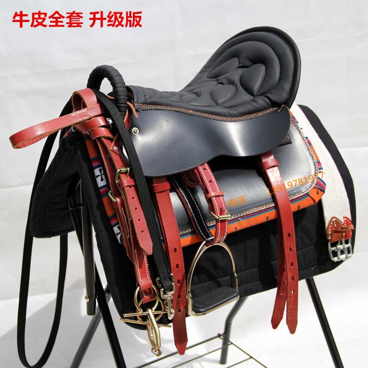 Чистая кожа седло сын снаряжен полный набор деталей тур пассажир пакет мягкий седло лошадь инструментарий почта