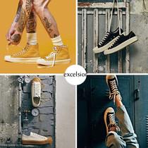 焦糖饼干厚底男鞋复古板鞋低帮帆布鞋M女鞋BOLT官网EXCELSIOR韩国