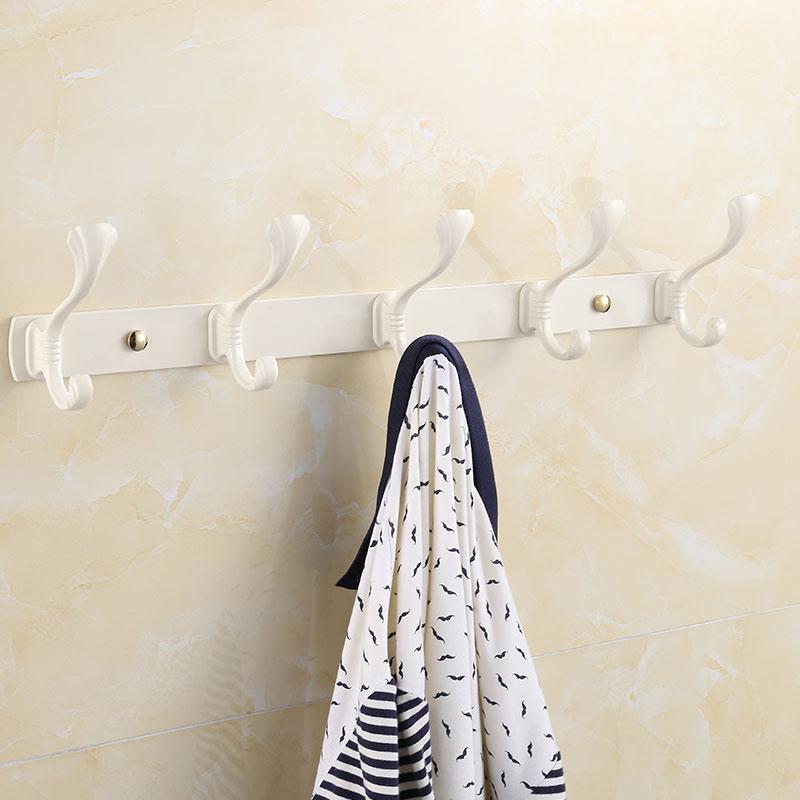 白色衣鉤 歐式複古象牙白掛鉤排鉤掛衣鉤衣帽鉤 客廳壁掛門後鉤