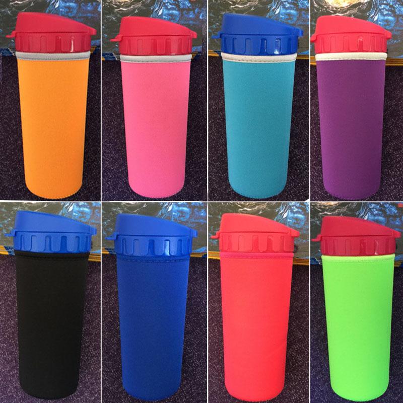 加厚特百惠500ml茶韵杯杯套 塑料杯潜水料防摔水杯套保护套杯套子