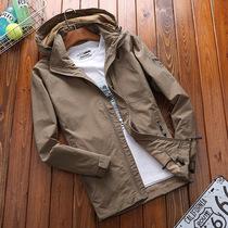 吉普盾外套男装春秋季薄出口战术军迷防水冲锋衣大码户外休闲夹克