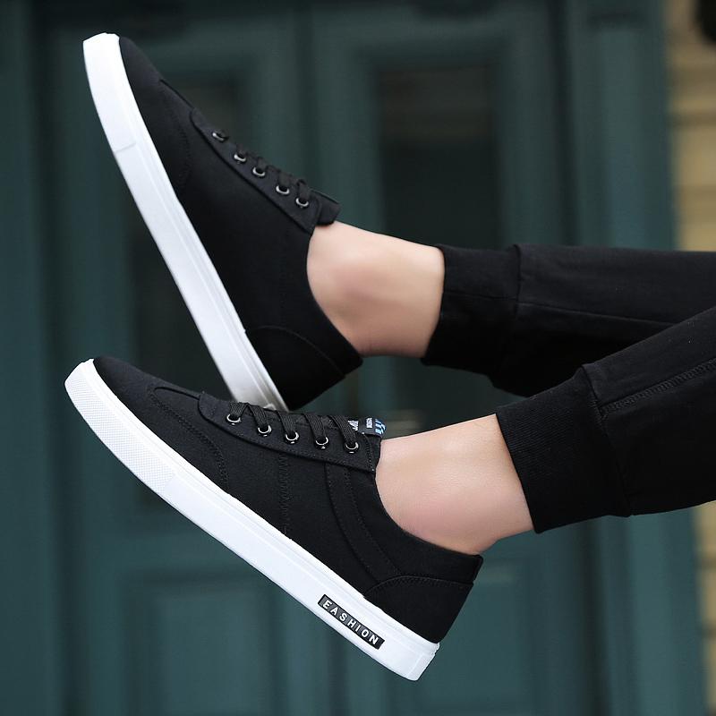 2018新款夏季男鞋子潮流韩版男士潮鞋百搭帆布休闲鞋小白布鞋板鞋