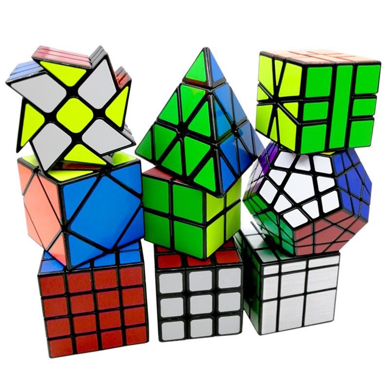 圣手二三四五阶魔方初学者异形金字塔镜面斜转2345阶五魔方套装限4000张券