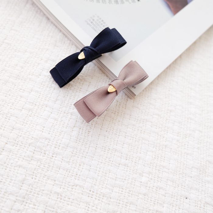 Temperament Princess double bow small spring clip top clip hair clip childrens hair ornament girls head ornament imported from Korea