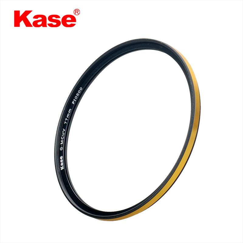 Kase цвет карты G-MCUV золото кольцо противоударный защита от ультрафиолетовых лучей многослойное покрытие 67 72 77 82mm фильтр
