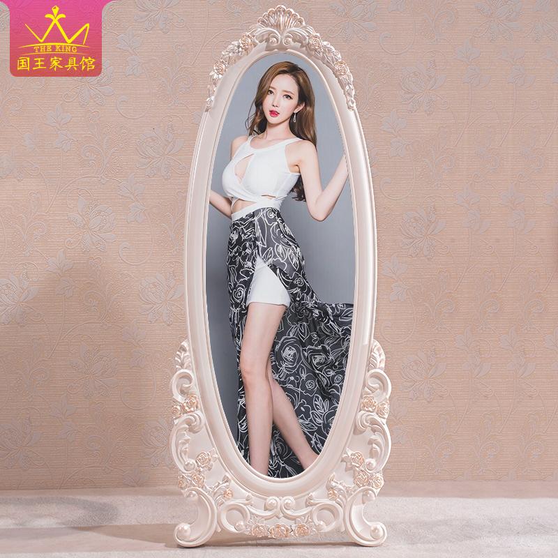Континентальный соус зеркало все тело этаж простой принцесса зеркало многофункциональный вращение тест одежда зеркало комната с несколькими кроватями спальня мобильный зеркало