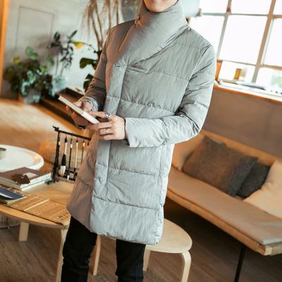 冬装17国风立领加厚17长款棉衣男士外套棉服男大码棉袄 M87 P145