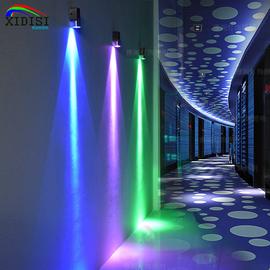 七彩變色led燈家用酒吧ktv走廊壁燈過道背景墻燈彩色雙頭燈射線燈圖片