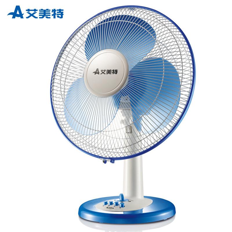 艾美特电风扇家用电风扇台式16寸摇头静音12寸节能办公室台扇14寸