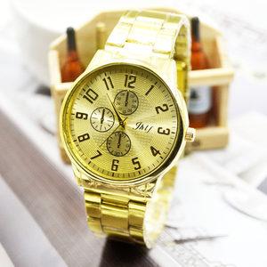 潮流时尚合金中性全新石英普通玻璃镜面腕表促销价男式手表