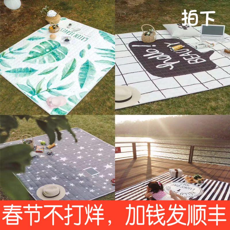 Пикник подушка на открытом воздухе портативный ребенок весна выход водонепроницаемый дикий кок ткань песчаный пляж газон влагостойкий сгущаться дикий другие места подушка