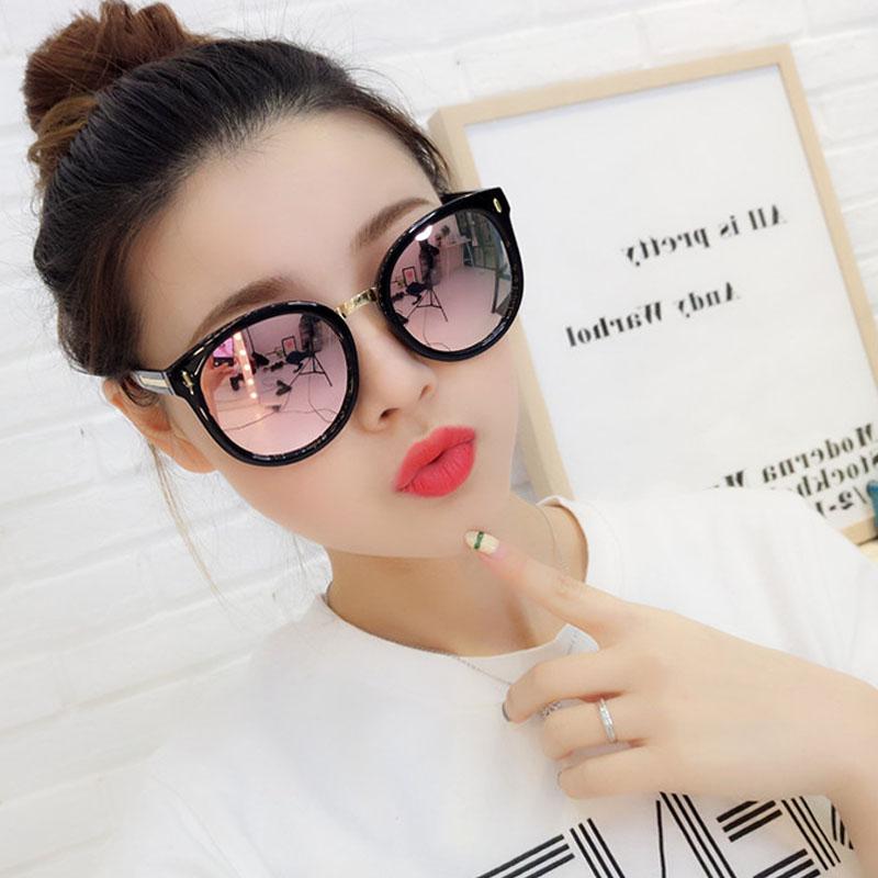 2020新款ins韩版潮圆脸偏光太阳眼镜女防紫外线街拍大脸显瘦墨镜