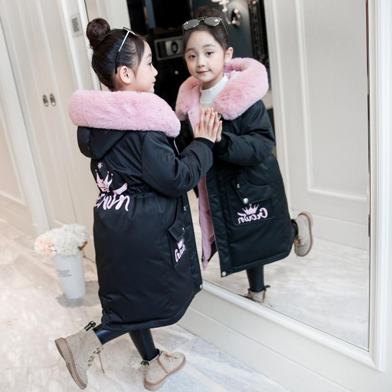 妃蝶轩【满48包邮】女童棉衣新款加厚洋气外套中款儿童棉服2103图片