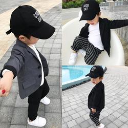 图图家2020秋装儿童绅士小西装外套男宝宝周岁酒宴装婴幼童礼服潮