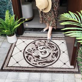 大理石地砖花纹丝圈地毯 地花防滑入户垫 进门地垫 蹭土垫室外垫