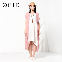 ZOLLE because of the summer new product long short-sleeved sunscreen sweater ramie was thin and thin outside the cardigan women