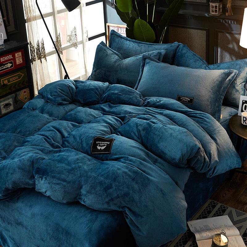 加厚珊瑚绒床上四件套冬季双面水晶绒牛奶宝宝法莱法兰绒被套床单券后148.00元