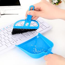 桌面打扫小扫把簸箕套装键盘清洁刷扫帚簸箕组合迷你垃圾铲工具图片