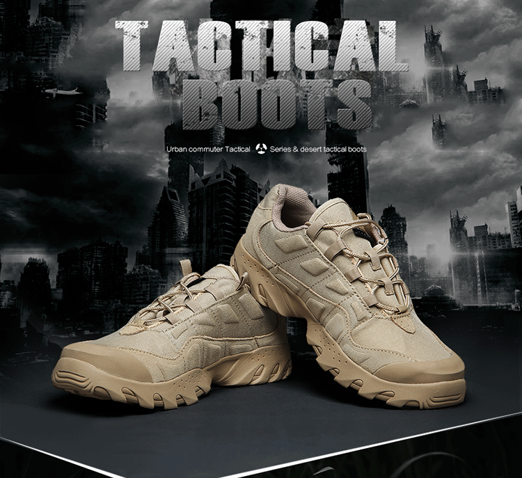 Autumn and winter consuls Oji Military Boots Mens low top combat boots special soldiers desert tactical boots genuine army fan shoes
