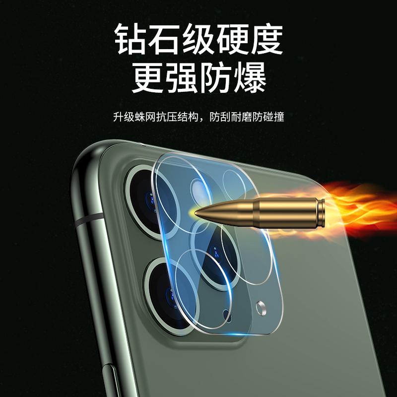适用于苹果11镜头膜高清后摄像头钢化膜11promax背保护膜