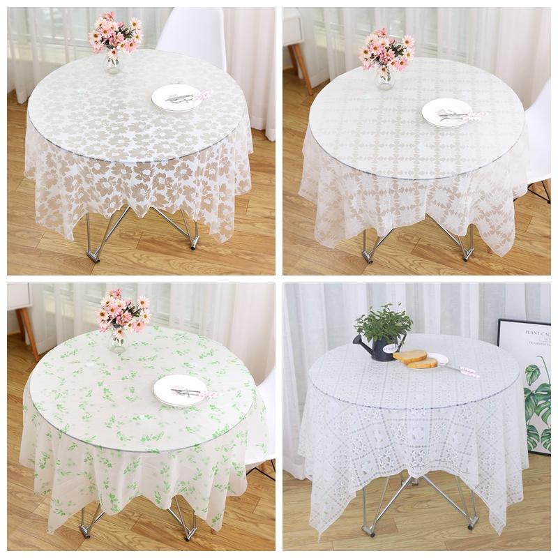 10张加厚一次性白色印花纯白台布