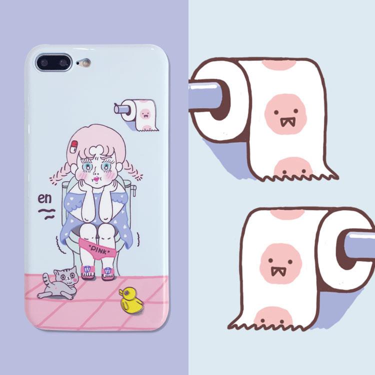 PaPaPa производство офис оригинал туалет девушка японский мягкий сестра росток милый яблоко 7 iphone7/6 корпус телефона