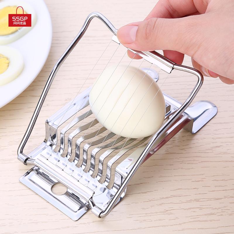 Нержавеющей стали вырезать яйцо артефакт яйца нарезанный устройство филиал клапан кожа яйцо фантазия больше клапан сегментация устройство японский кухня инструмент небольшой
