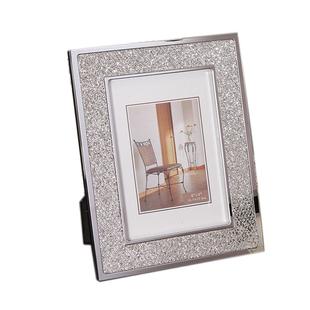 現代簡約金屬相架創意相框擺件擺台工藝禮品軟裝飾品擺設亮片相框