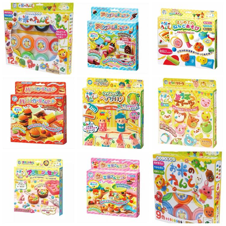 日本银鸟gincho大米小麦彩泥套装安全橡皮泥宝宝手工黏土儿童礼品