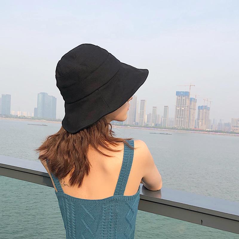 不包邮韩版潮网红遮阳帽防晒紫外线渔夫帽