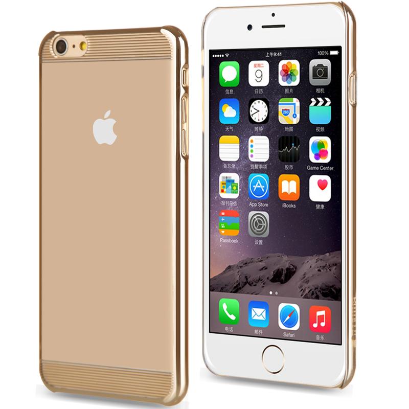 comma iPhone6S plus手機殼蘋果6plus保護套 透明防摔電鍍外殼