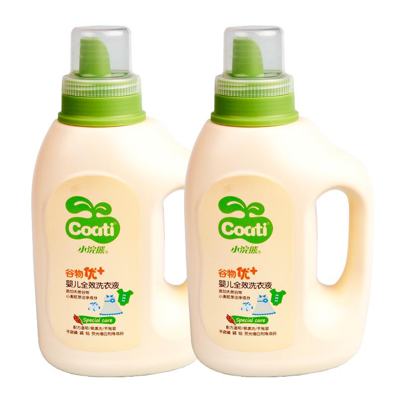 小浣熊洗衣液 嬰兒新生兒孕婦衣物2.4升包郵 兒童寶寶洗衣液