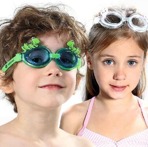 (用1元券)男童女童十二生肖儿童卡通防水泳镜 高清硅胶防雾护眼游泳镜