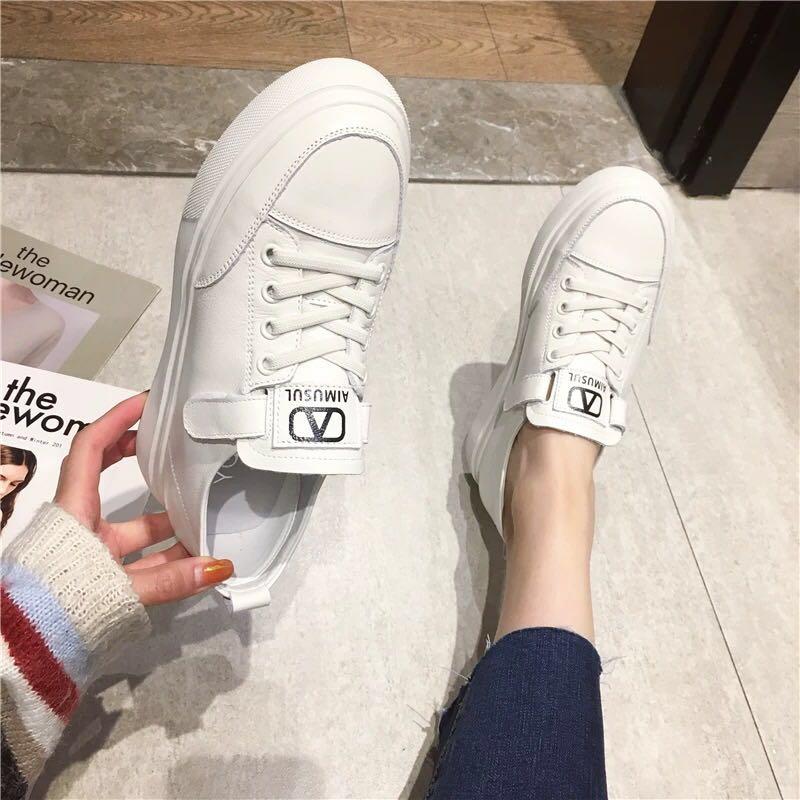 小白鞋女2020新款女鞋原宿风运动休闲厚底百搭